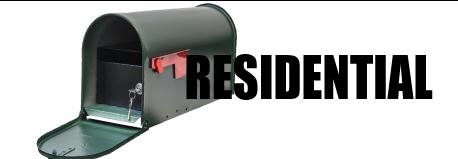 Residentail mailbox button